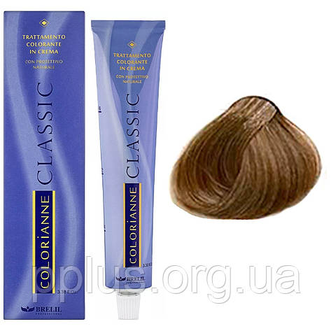 Фарба для волосся 8.03 Brelil Colorianne Classic атуральный шовковий світлий блондин 100 мл, фото 2