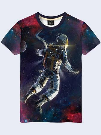 Мужская Футболка Человек в Космосе