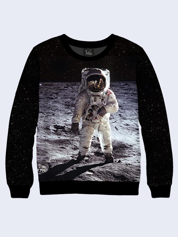 Чоловічий Світшот Людина на Місяці