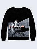 Чоловічий Світшот Людина на Місяці, фото 2