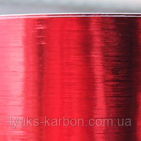 Плівка червоний шліфований хром 152 см