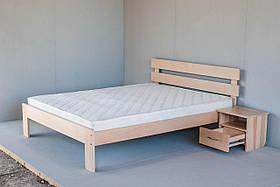 """Двоспальне ліжко """"Вікторія"""" з дерева (масив бука)"""