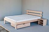 """Двоспальне ліжко """"Вікторія"""" з дерева (масив бука), фото 2"""