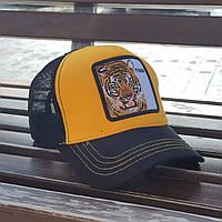 Кепка-тракер жовто-чорна Тигр