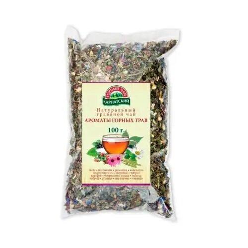 Натуральний трав'яний чай Аромати гірських трав Гірський  100г ТМ Чай Карпатський