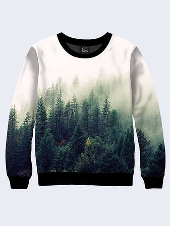 Чоловічий Світшот Ліс в Диму