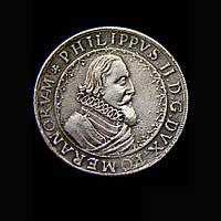 Корабельный талер 1617г Нидерланды Филипп 2  в серебре №589 копия, фото 1