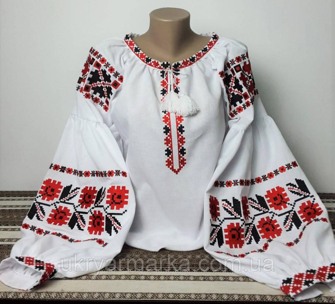 Вишита жіноча сорочка в стилі бохо - доступні всі розміри