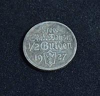 1/2 гульдена 1927г Вольный город Данциг копия серебряной монеты №595 копия