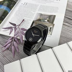 Наручний годинник Rado Jubile Battery Black/Black-Silver Керамічні наручні годинники чорні
