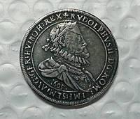 Талер серебряный 1605 г король Германии Рудольфа II  в серебре №604 копия