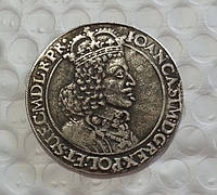 Талер 1650 г Польша Гданьск Ян Казимир копия серебро №606 копия