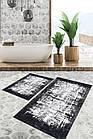 Набор ковриков для ванной комнаты SUNTEKS 2 предмета прорезиненные Турция лучшая цена, фото 3