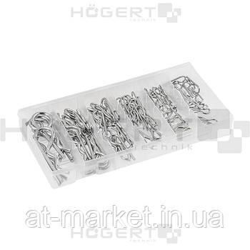 Набор пружинных шплинтов, 150 шт. HOEGERT HT8G516