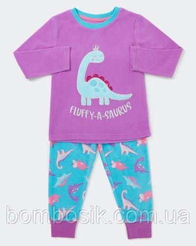 Пижама флисовая Dunnes для девочки, 2-3г (92-98см)