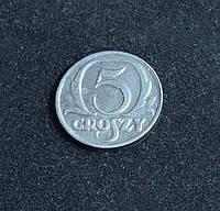 5 грош 1939 г Немецкая оккупация Польши копия в серебре №603 копия