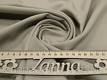 Однотонная джинсовая ткань бежевого цвета