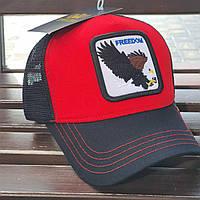 Кепка-тракер красно-черная Орел