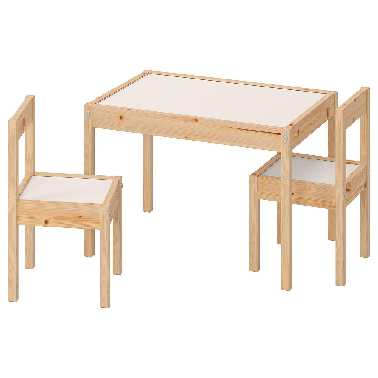 Дитячий стіл з 2 стільцями LÄTT