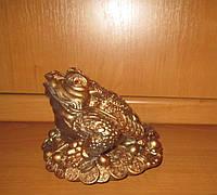 Жаба на деньгах копилка 17*20 см фен-шуй, фото 1