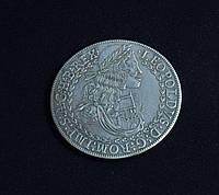 Двойной талер 1670 г Австрия Леопольд 1  серебро №610 копия