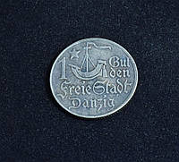 1 гульден 1923 г Данциг  в серебре №612 копия