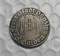 5 гульденов 1932 г Вольный город Данциг реплика серебряной монеты №613 копия