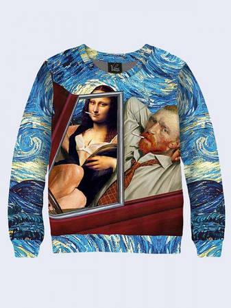 Мужской Свитшот Мона Лиза и Ван Гог