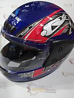 """Шлем мотоциклетный интеграл закрытый синий S(55-56), HF-101/501,""""КUROSAWA"""""""