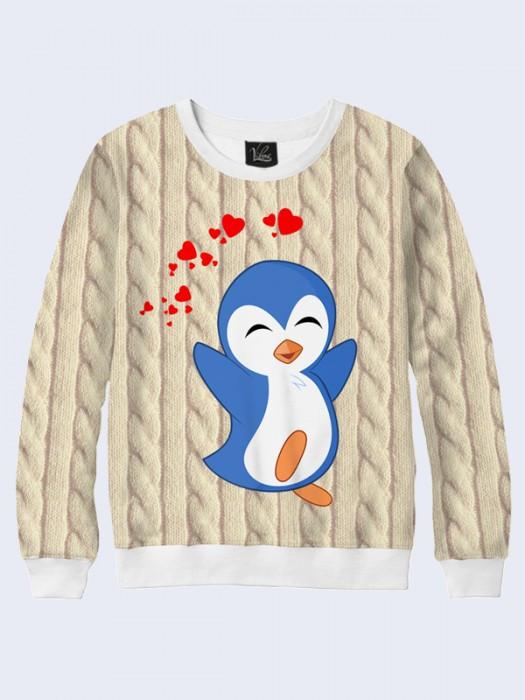 Чоловічий Світшот Пінгвін Любов