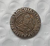 1 грош 1545 г Германия Бранденбург Йохан копия в серебре №624 копия