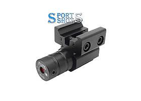 Лазерний целеуказатель AT Laser Sight красний луч, з кріпленням Ластівчин хвіст / Weaver