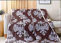 Двуспальное стёганое легкое одеяло (коричневый)