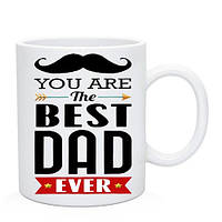 Подарочная Кружка Best Dad. Чашка Найкращому Татові