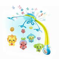 Детская музыкальная карусель Limo Toy 9969 ABCD мобиль подвеска с игрушками на кроватку музыкальный проектор