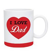 Кружка I Love Dad. Чашка Я люблю папу