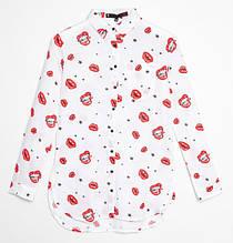 Детская рубашка для девочки Young Reporter Польша 201-0336G-02-200-1 Белый