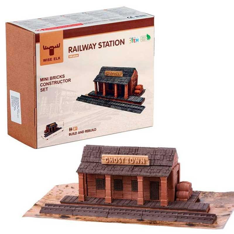 """Керамічний конструктор з міні-цеглинок Wise Elk """"Залізнична станція"""" 70538"""