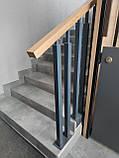 Огородження  сходин , перила металеві та дерев'яні, фото 2