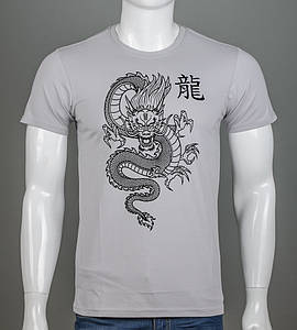 Футболка чоловіча Китайський Дракон (2113м), Св.Сірий