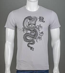 Футболка мужская Китайский Дракон (2113м), Св.Серый