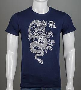 Футболка мужская Китайский Дракон (2113м), Т.Синий