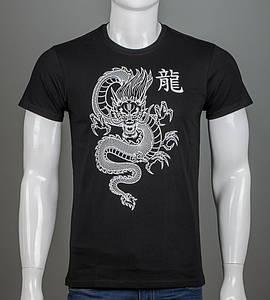 Футболка чоловіча Китайський Дракон (2113м), Чорний