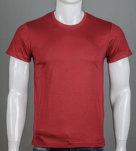 Футболка мужская однотонная 100% Хлопок (0Г01), Бордовый