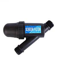 """Фильтр сетчатый с наружной резьбой 1"""", пропускная способность 5 м³/ч, степень очистки 120 мкм"""