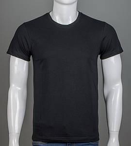 Футболка мужская однотонная 100% Хлопок (0Г01), Черный