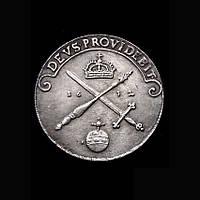 1 талер 1632 г Польша Божья милость осадный копия в серебре №632 копия, фото 1