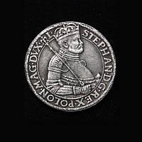 Талер 1585 г Польша Стефан Баторий копия в серебре №635 копия, фото 1