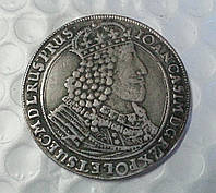 Талер 1630 г Польша торуньская монета Ян Казимир копия в серебре №638 копия
