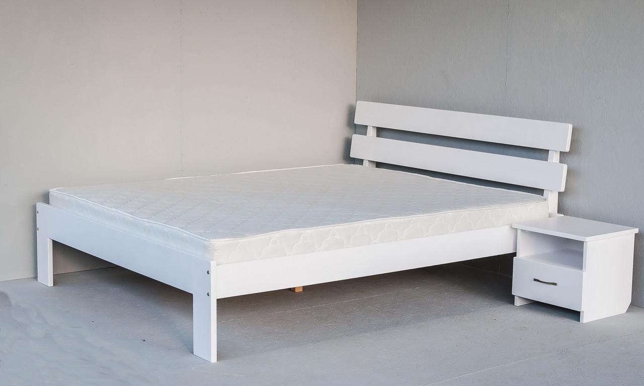 """Двоспальне ліжко """"Вікторія Люкс"""" з дерева (масив бука)"""